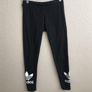 Adidas Black Logo Leggings